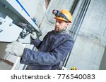 machinist with spanner... | Shutterstock . vector #776540083