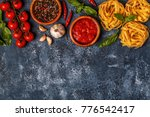 italian food background with... | Shutterstock . vector #776542417