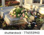 White And Pink Funeral Flowers...