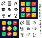 football all in one icons black ... | Shutterstock .eps vector #776559607