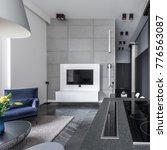open cooking area in modern... | Shutterstock . vector #776563087