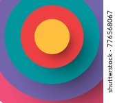 colorful paper circle banner... | Shutterstock .eps vector #776568067