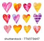 watercolour hearts collection.... | Shutterstock . vector #776573647