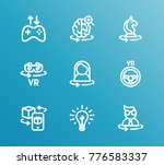 augmented reality icon line set ... | Shutterstock .eps vector #776583337
