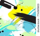 vector contrast brushstroke... | Shutterstock .eps vector #776585803
