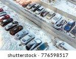 street parking with snow... | Shutterstock . vector #776598517