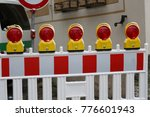 roadblock   special fences... | Shutterstock . vector #776601943