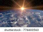 planet earth and fascinating... | Shutterstock . vector #776603563
