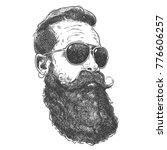 hand drawn graphic portrait of... | Shutterstock .eps vector #776606257