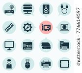 gadget icons set with palmtop ...   Shutterstock .eps vector #776614597