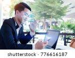 biometric verification...   Shutterstock . vector #776616187