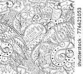 tracery seamless pattern.... | Shutterstock .eps vector #776621053