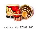 traditional russian matryoshka...   Shutterstock . vector #776621743