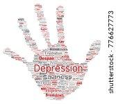 vector conceptual depression or ...   Shutterstock .eps vector #776627773