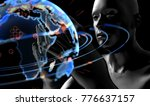 cyber communication and... | Shutterstock . vector #776637157