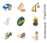 road rules icons set. isometric ...   Shutterstock .eps vector #776637193