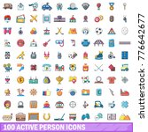 100 active person icons set.... | Shutterstock .eps vector #776642677