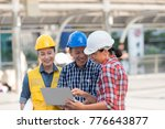 asian engineers group consult... | Shutterstock . vector #776643877