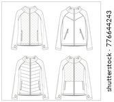 Small photo of Ladies Activewear Jackets CAD Drawing