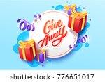 giveaway vector lettering... | Shutterstock .eps vector #776651017