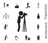 photographer takes pictures... | Shutterstock .eps vector #776657023