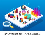 data analysis meeting | Shutterstock .eps vector #776668063