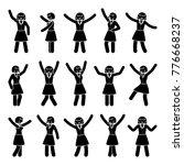 stick figure happiness  freedom ... | Shutterstock . vector #776668237