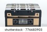 plastic old fashioned cassette... | Shutterstock . vector #776683903