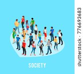 social concept of public... | Shutterstock .eps vector #776693683