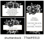 invitation with floral... | Shutterstock .eps vector #776695513