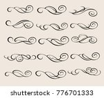 design elements.decorative... | Shutterstock .eps vector #776701333