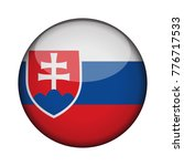 slovakia flag in glossy round...   Shutterstock .eps vector #776717533