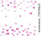heart confetti beautifully...   Shutterstock .eps vector #776730613
