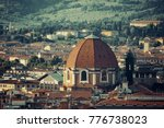 florence rooftop view with... | Shutterstock . vector #776738023
