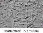 pattern of grey cement wall... | Shutterstock . vector #776740303