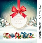 christmas holiday background... | Shutterstock .eps vector #776743567