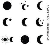 moon icon set | Shutterstock .eps vector #776753977