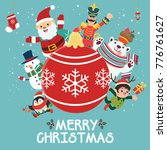vintage christmas poster design ...   Shutterstock .eps vector #776761627