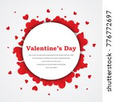 love valentine's invite card... | Shutterstock .eps vector #776772697