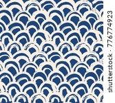 indigo tie dye seamless pattern.... | Shutterstock .eps vector #776774923