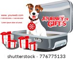 baggage. a dog in a suitcase. ... | Shutterstock .eps vector #776775133