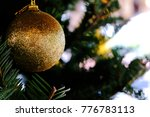 abstract blurred of christmas... | Shutterstock . vector #776783113