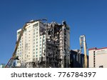 Small photo of LAS VEGAS - DECEMBER 7, 2017: The Las Vegas Club Hotel and Casino demolition. The buildings are being razed to make room for a new Hotel Casino project.