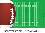 american football ball on... | Shutterstock .eps vector #776786383