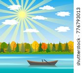 a sunny day is an autumn... | Shutterstock .eps vector #776793013