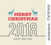 christmas card with pattern and ... | Shutterstock .eps vector #776797633
