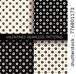 set of heart seamless pattern... | Shutterstock .eps vector #776801173