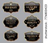 black vintage labels | Shutterstock .eps vector #776803423