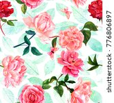 a seamless pattern with... | Shutterstock . vector #776806897
