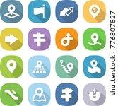 flat vector icon set   pointer... | Shutterstock .eps vector #776807827